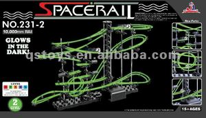 2012 newest Glow space rail/matel space rail