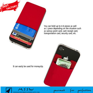3M self adhesive, silicone rubber card holder for mobile phone 3 Pcs, silicone back phone wallet