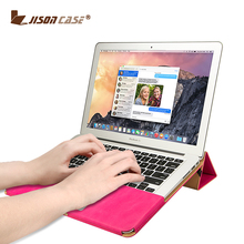 Jisoncase Luxury Leather Laptop Bag for MacBook Pro Retina 13 inch Portable PU Leather Bags Cover for Macbook Pro