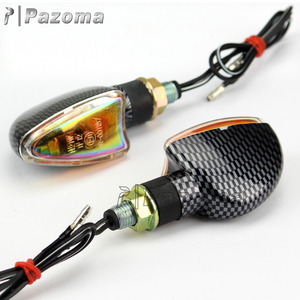 Competitive Price Pazoma Universal Carbon Motorcycle Indicators With E-mark For Supermoto