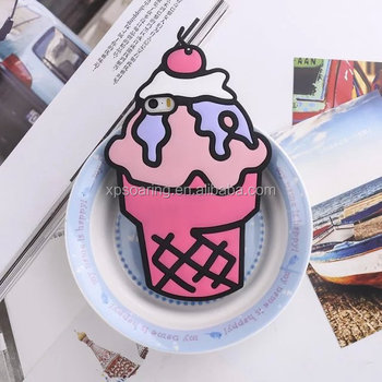 New design ice-cream silicone cover case for iPhone 6 6S plus, Cute protective case for iPhone 6 plus