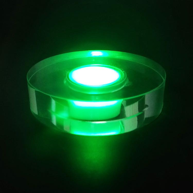 Wholesale Round Multi Color 3D Led Light Crystal glass Lamp Base