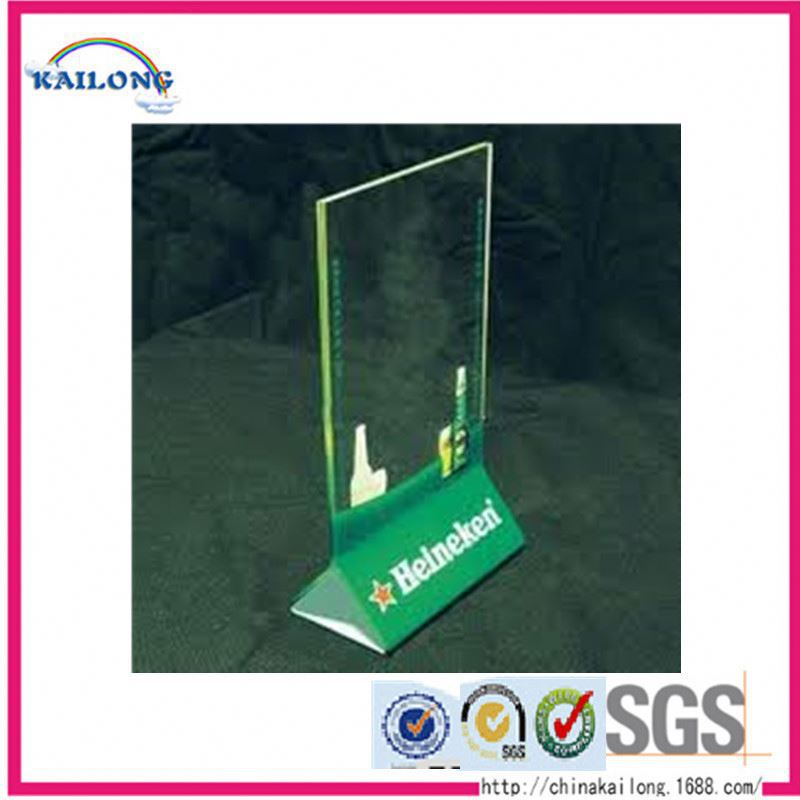 Table Menu Tent Card Sign Price Tag Holder Acrylic Leaflet Holder