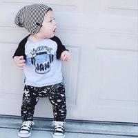 Name Brand Kids Newborn Baby Boy Print Cotton Fabric Clothing Wholesale