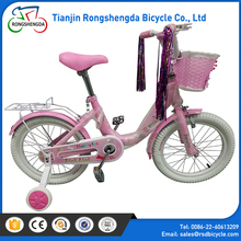 Hot sales kid bicycle wholesale / 14 inch bike girls tires white / carbon fibre with children 4 wheel bike