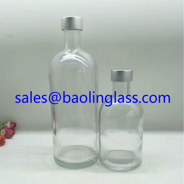 250ml and 500ml round wine glass bottle
