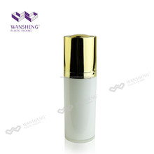 Twist Up Pump Bottles Round Cosmetic Double Cap Bottle