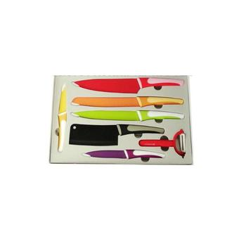 7 Pcs Non-stick Colorful Kitchen Knife Set - Buy Royalty Line Knife  Set,Kitchen Knives Set,Ceramic Knife Product on Alibaba.com