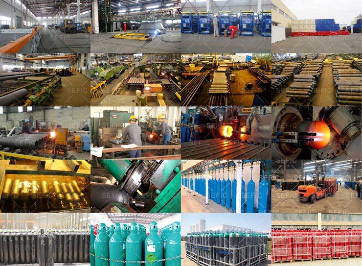 Aluminiumlegering 2L-10L China Medische Kleine Draagbare Zuurstof Cilinder Size