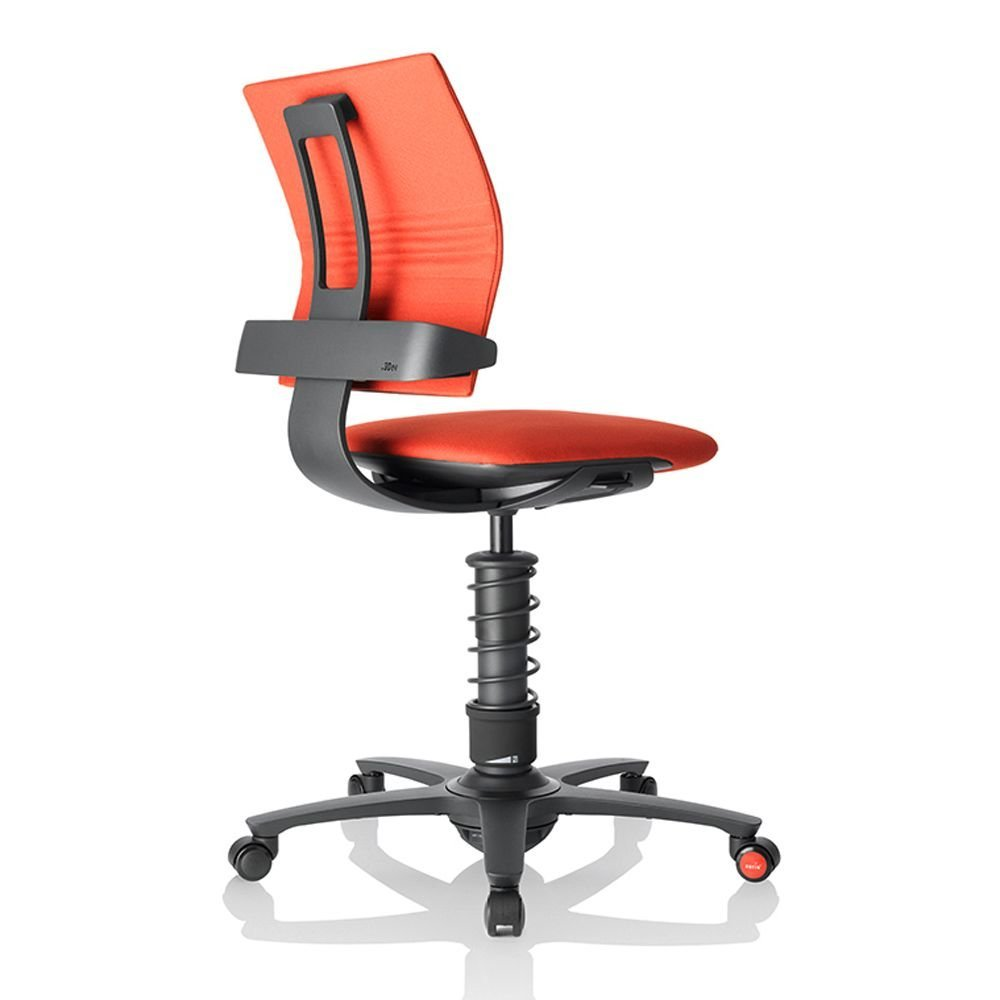 """3Dee Fabric Multi Motion Task Chair with Black Frame Dimensions: 19""""W x 22.5""""D x 17.5-23""""H Seat Dimensions: 18.5""""Wx18.5""""Dx17.5-23""""H Seat Thickness: 3"""" Red Fabric/Black Frame and Spring"""
