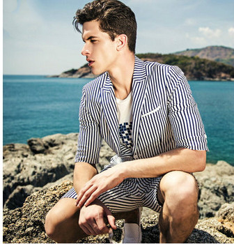 New Beach Style Casual Men S Wool Suits