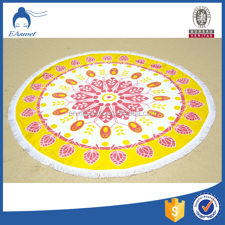 Boho roundie mandala beach round towel Round Beach Blanket wholesale