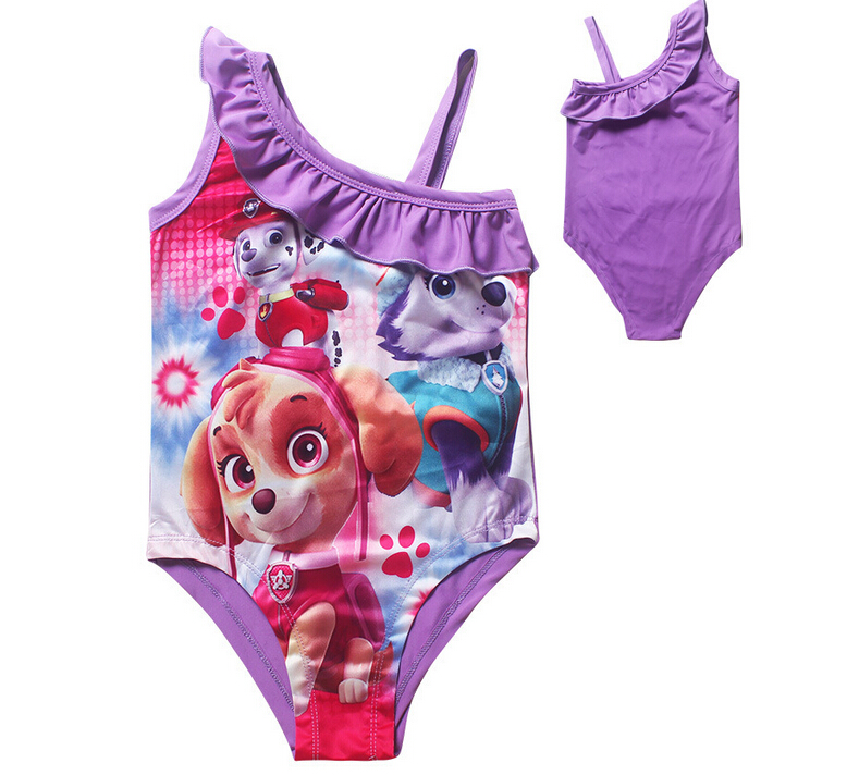 HOT 2106 Girls Swimwear Bikini Swimsuit Kids Dogs patrol children one piece swimsuit Tankini Bathing Bathing