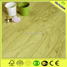 Fire resistant oak green HDF parked wood laminate flooring for indoor