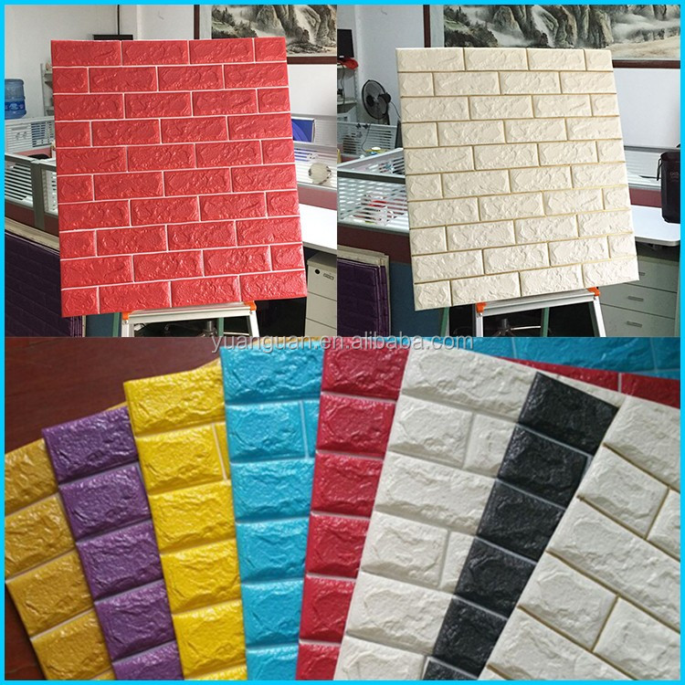 Waterproof self-adhesive wallpaper wallpaper from the retro brick dormitory bedroom wallpaper background wall paper bag mail
