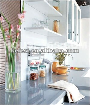 Crystal white solid surface engineered stone