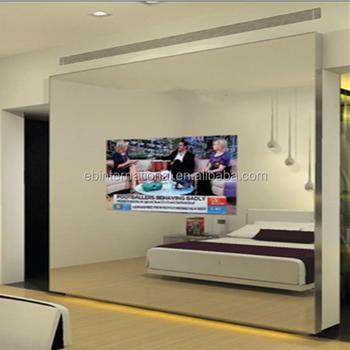 Hide Mount TV Behind Mirror Indoor Advertising Lcd Screen Eb Glass