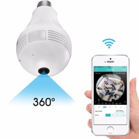 NEW smart home security monitoring video camera light bulb camera LED small cctv camera