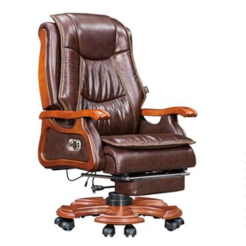 customizable wholesale luxury pu leather big cheap massage execute boss office chair