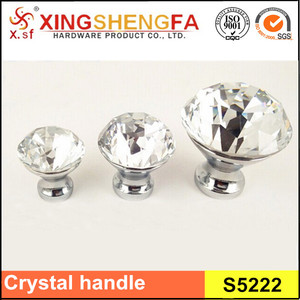 European style gold crystal cabinet door knob
