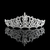 Bridal And Princess Crystal bride wedding rhinestone Headband jewelry cheap crown tiara set