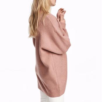 Wholesale Girls Fashionable V Neck Knit Long Sleeve Pullover Blank