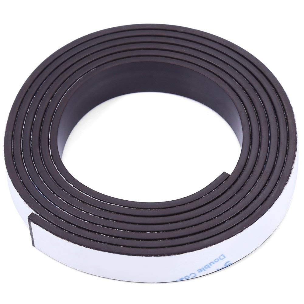 Perfectii 1 M Self-adhesive Flexible Rubber Strong Magnet Magnetic Strip Tape With 3m Adhesive Backing For Walls Boards 10 X 1.5mm