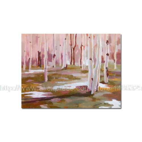 Handmade Abstract Aspen Oil Painting On Canvas For Home Decor Wall Hand Floral Canvas Wall Art Art Painting Modern Art Andy