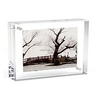 Magnet Connecting Crystal Clear Acrylic Blocks Photo Frame