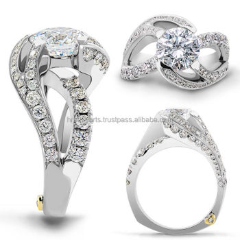 14k 18k 22k Gold Designer Diamond Engagementwedding RingGiaigi