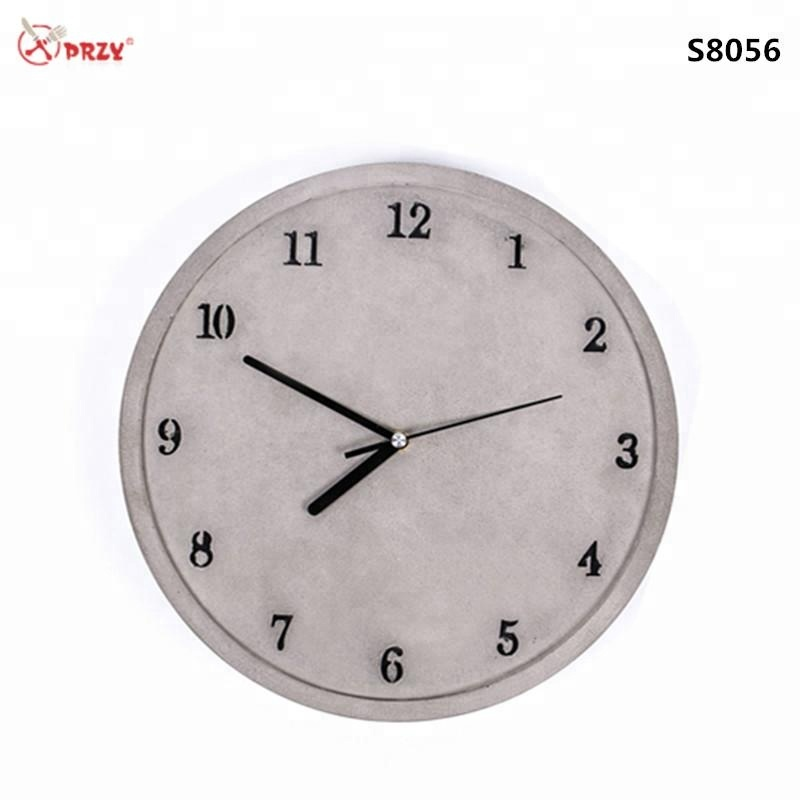 Przy Simple Cement Wall Clock Molds Creative Silicone Concrete