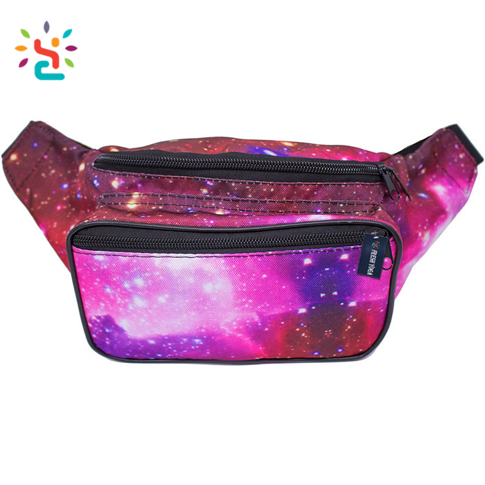 F-color Waist Pack Iridescent Fanny Pack for Women Men Holographic Fanny Pack