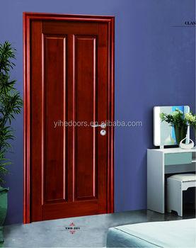 Double Panel Wood Door Plain Wooden Door Polish Wood Door With 6 Times  Painting