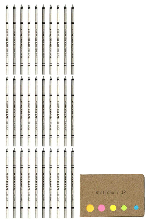 Zebra ESB-0.7 Emulsion Ink Ballpoint Pen Refill - D1-0.7 mm, Black Value Set of 30