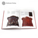 Customized plastic blank romantic home rosewood furniture cover photo album with velvet fabric cover