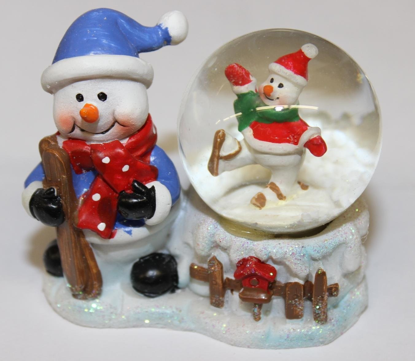 get quotations deluxe christmas snow globes christmas globe 3