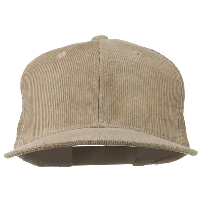 2cd125fdf94 Get Quotations · Corduroy Vintage Snapback Cap - Khaki