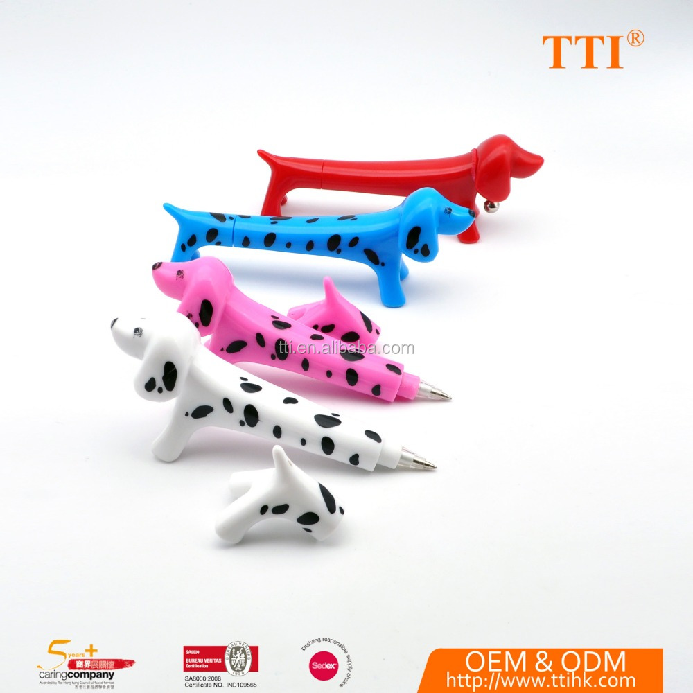 Promotional items kids fancy dog shaped pen