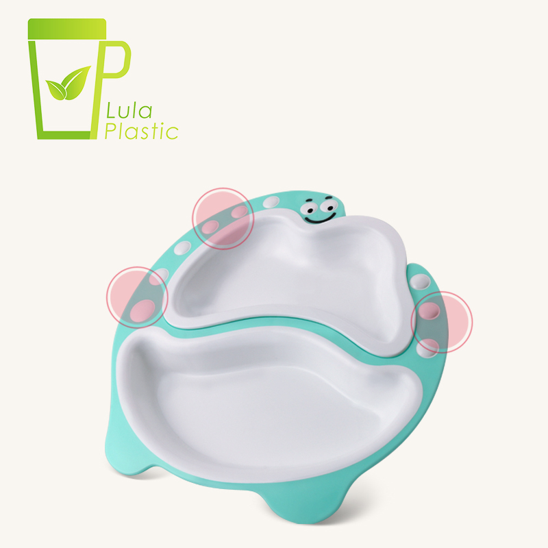 Trend 2020 Amazon BPA FREE Dinosaur Baby Dining Table Plate Dinnerware Tableware Children Food Container With Removeable Dishes
