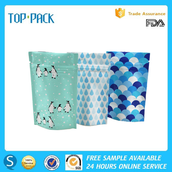 OEM approval factory supply laminated foil plastic stand up packaging bag for cosmetic sample