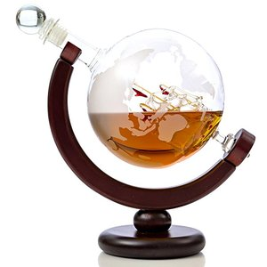 wooden decanter bottle base globe bar wooden whisky bottle holder