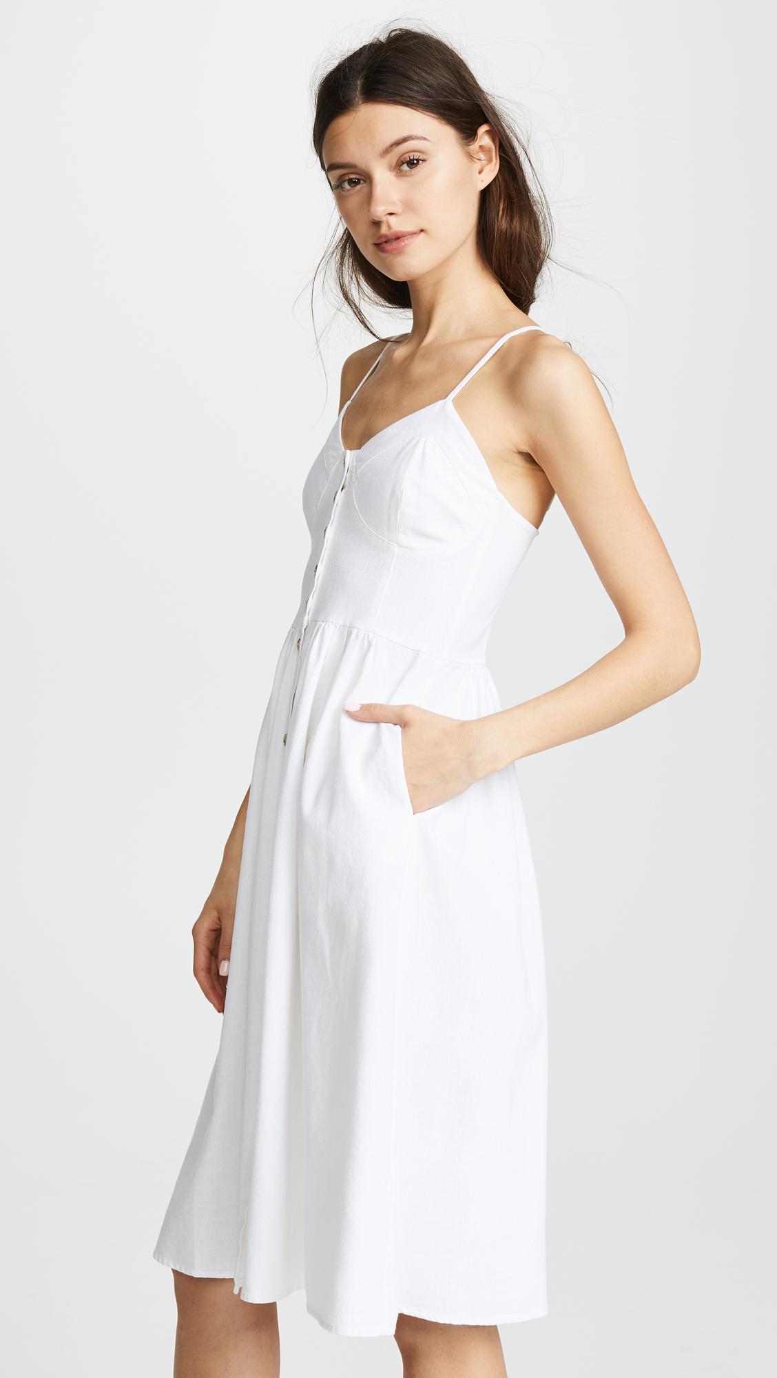 2ca0838f2fb Fashion Button Up White Long Linen Dress For Woman Dress Summer 2018 ...