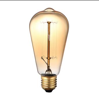 Vintage Edison Light Bulb E27 Incandescent Lamp Tungsten 60w Filament Candle Hanging Warm White