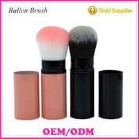 Fashion Professional Retractable Makeup Blush Brush Adjustable Foundation Powder Cosmetic Face Kabuki Brush