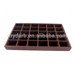 Wholesale large jewelry ring tray 30 slot compartment ring holder