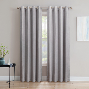 Ready made solid blackout curtain for living room window curtain