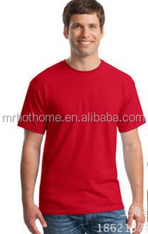 Blank red cotton t shirt for printed