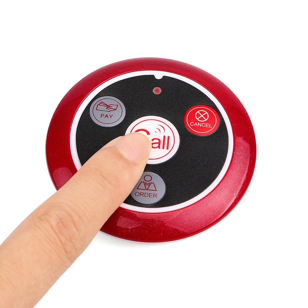 10 pcs 433MHz Wireless Cafe Spar Club Restaurant Waiter Four-key 4 button transmitter call button Retekess T117