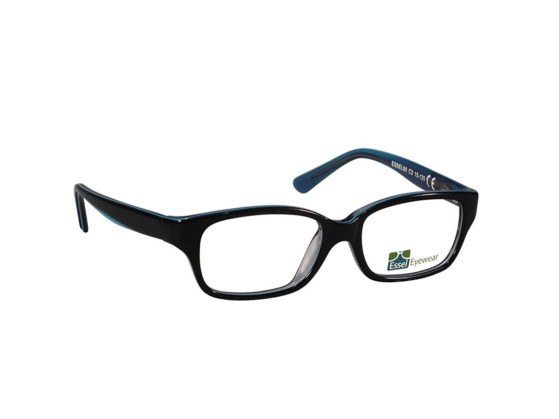 7b7c1aecdeb Get Quotations · DesignerEye Glasses Stylish Full Rim Rectangular Oval  Acetate Frame for Non-Prescription or Prescription Clear