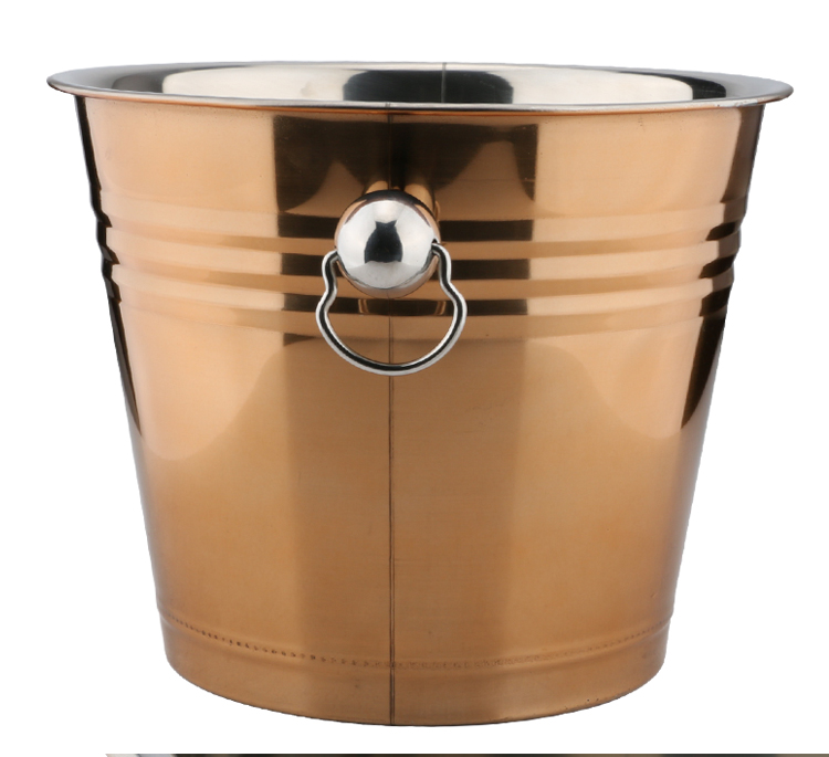 3 color bar stainless steel beer ice bucket champagne bucket Large ice bucket for beer